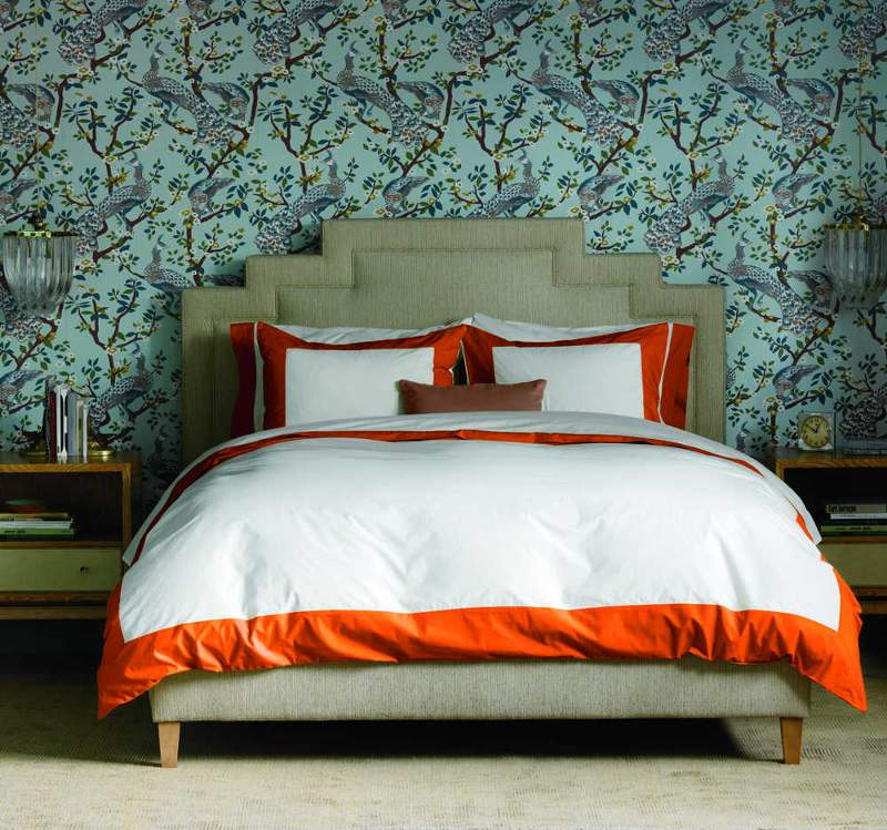 Quirks Marketing Philippines - DwellStudio - Modern Border Tangerine Duvet Set