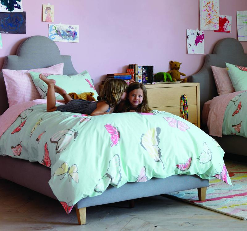 Quirks Marketing Philippines - DwellStudio - Butterfly Robin's Egg Twin Duvet Set for Kids