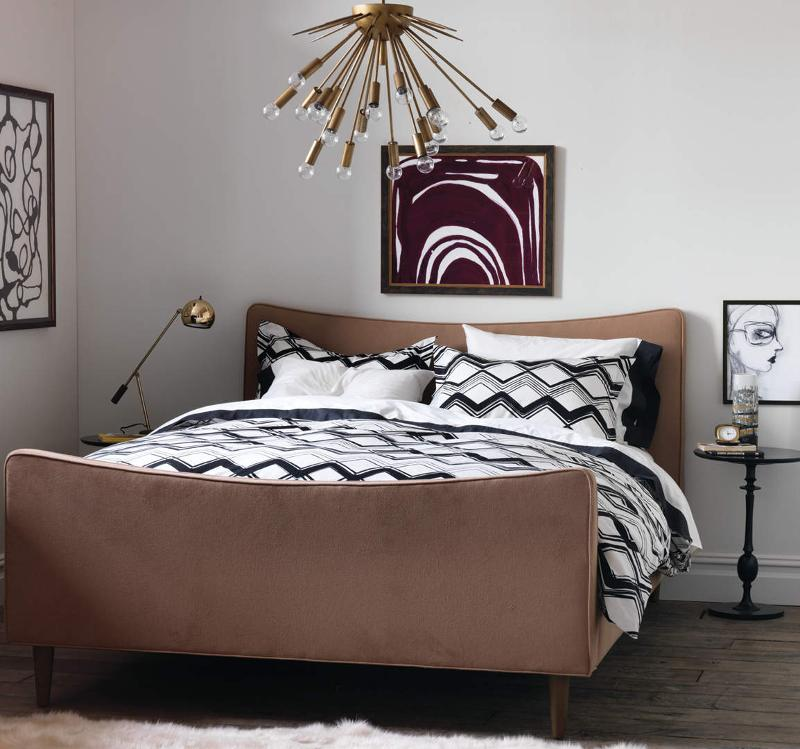Quirks Marketing Philippines - DwellStudio - Painted Chevron Ink Duvet Set