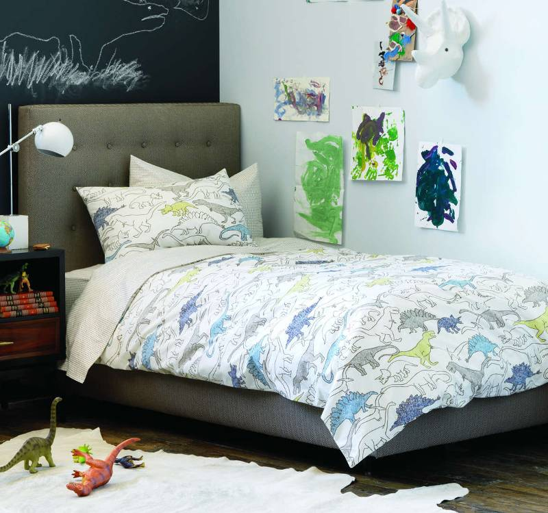 Quirks Marketing Philippines - DwellStudio - Dinosaurs Multi Twin Duvet Set for Kids