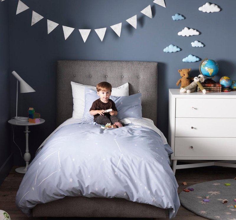 Quirks Marketing Philippines - DwellStudio - Galaxy Dusk Twin Duvet Set for Kids