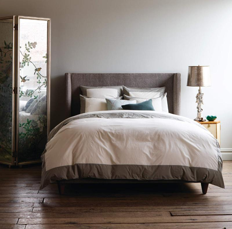 Quirks Marketing Philippines - DwellStudio - Modern Border Duvet Set in Smoke Grey