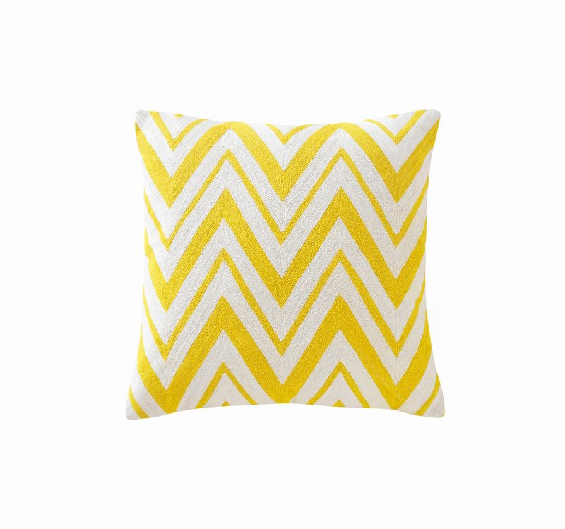 Quirks Marketing Philippines - DwellStudio - Chevron Citrine Decorative Pillow