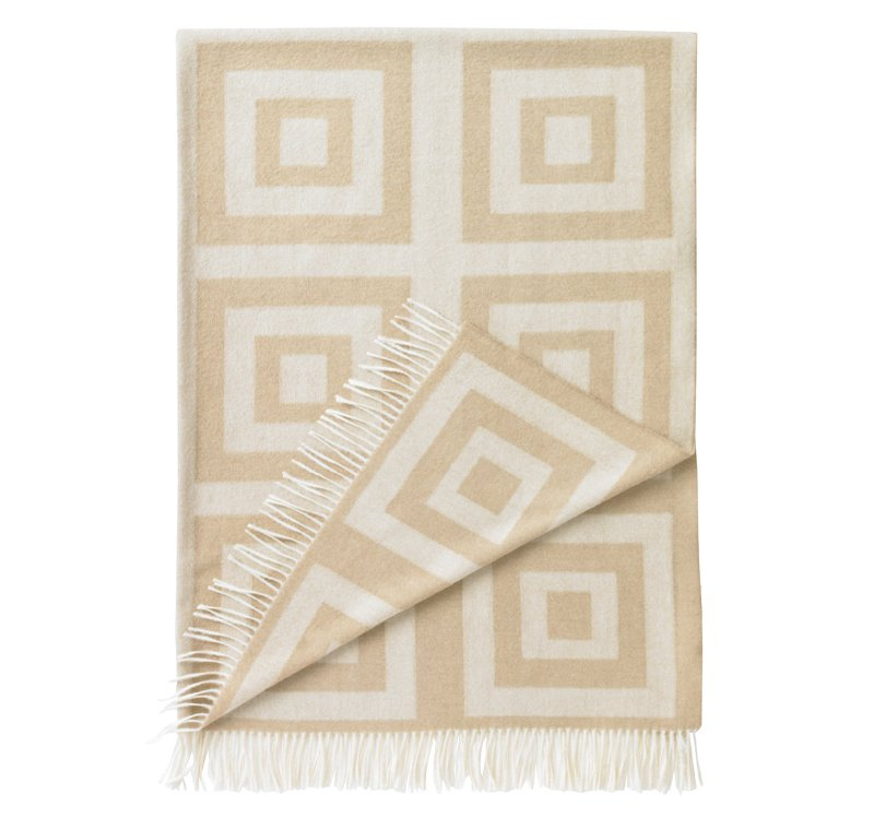 Quirks Marketing Philippines - DwellStudio - Concentric Squares Throw Wheat