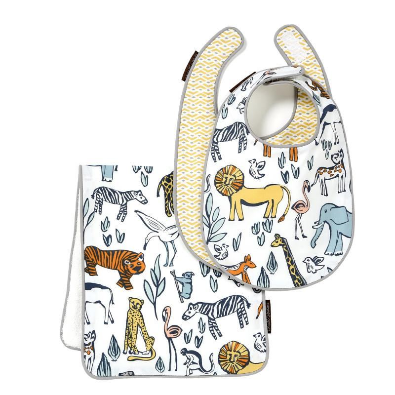 Quirks Marketing Philippines - DwellStudio Baby - Safari Bib-burp set