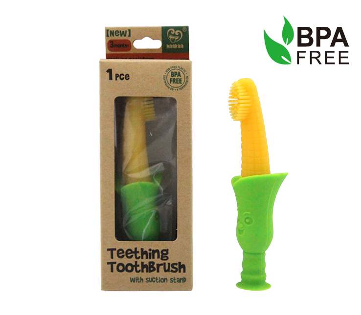 Quirks Marketing Philippines - Haakaa - Silicone Teething Toothbrush with suction stand